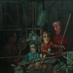 Kiejstut Bereźnicki (ur.1935) Rodzina IV wg Rembrandta 1968 płótno