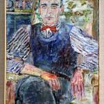 """Jan Cybis (1897-1972) """"Portret malarza Romana Turyna"""", 1933, płótno, olej"""