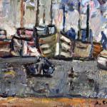"""Jan Cybis (1897-1972) """"Kutry w zatoce"""", 1971-72, płótno, olej"""